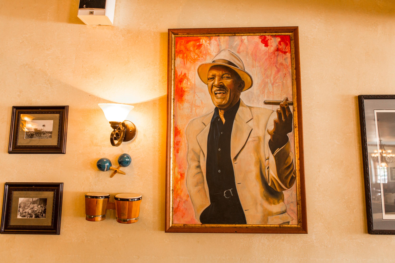 Cuban art on display at Versailles restaurant.